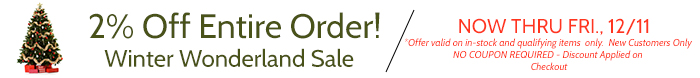 2% Off Entire Order for New Customers - Offer Ends 10/31/2014