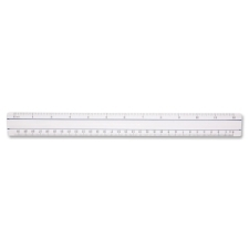 "Acme United 12"" Clear Magnifying Ruler acme united, clear, 12 clear magnifying ruler, ruler, acme united corporation, glass, imperial, metric, 1 each, 0, acme15571, 073577155718, 41111604"