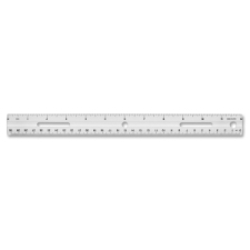 Business Source Standard Metric Ruler business source, white, durable, holepunched, shatter proof, standard metric ruler, ruler, business source, plastic, imperial, metric, double, 1 each, 13, bsn32365, 035255323659, 41111604