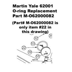Martin Yale 62001 O-ring Replacement Part M-O62000082