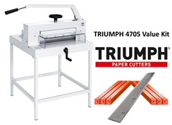 Triumph 4705 Manual Paper Cutter Value Kit with 1 box cutting sticks and 1 extra blade Triumph 4705 Manual Paper Cutter Value Kit with 1 box cutting sticks and 1 extra blade