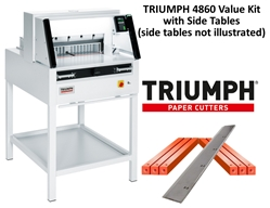 "Triumph 4860 Automatic-Programmable 18-5/8"" Paper Cutter Value Kit with 1 box cutting sticks and 1 extra blade Triumph 4860 Automatic-Programmable 18-5/8"" Paper Cutter Value Kit with 1 box cutting sticks and 1 extra blade"