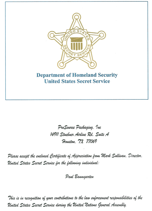 The united states secret service issued a certificate of us sercret service certificate of appreciation to paul baumgarten us sercret service appreciation card to paul baumgarten yadclub Gallery