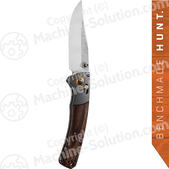 "Benchmade 15080-2 Crooked River Folding 4.00"" S30V Clip Point Blade, Dymondwood Handles with Aluminum Bolsters"