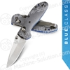 "Benchmade 556-1 Mini Griptilian 2.91"" CPM-20CV Satin Drop Point Plain Blade, Gray G10 Handles"