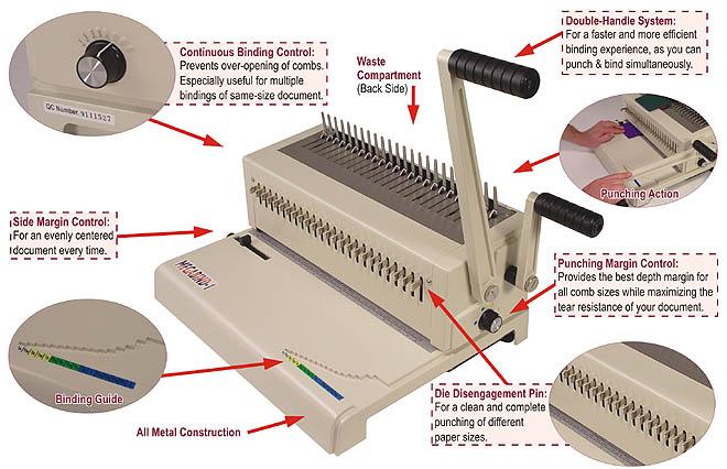 Akiles MegaBind-2 Manual Plastic Comb Binder