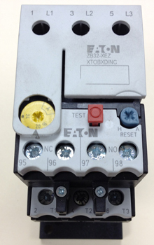 Eaton XTOB024CC1 Thermal Overload Relay with XTOBXDINC DIN-Rail Adaptor - Eaton XTOB024CC1