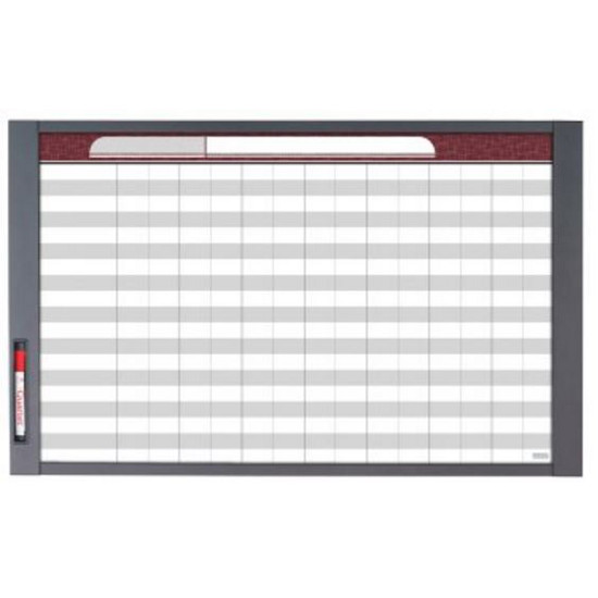 "Quartet 72982 InView Custom Whiteboard, 37.5"" x 23"", Total Erase, Graphite Frame"
