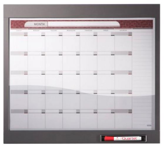 "Quartet 72983 InView Custom Whiteboard, 23"" x 20 1/2"", Total Erase, Graphite Frame"