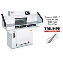Triumph 5560 LT Automatic-Programmable Paper Cutter Value Kit with Side Table Touch Pad, 1 box Cutting Sticks and 1 extra Knife