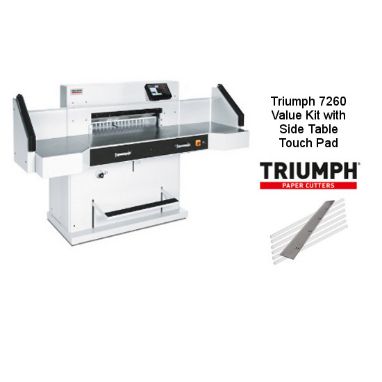 Triumph 5560 Automatic-Programmable Paper Cutter Value Kit with Side Table Touch Pad, 1 box Cutting Sticks and 1 extra Knife