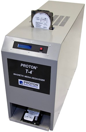 Proton Data Security T-4 W1 and T-4 W5 NSA Approved Degausser