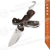 "Benchmade 15060-2 Grizzly Creek Folding Knife 3.50"" S30V Blade with Gut Hook, Dymondwood Handles"
