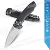 "Benchmade 490 Arcane / Amicus AXIS Assisted Flipper 3.25"" S90V Satin Plain Blade, Black Aluminum Handles"