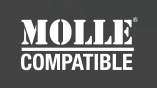 MOLLE Compatible: A versatile attachment system designed for kitting military equipment.