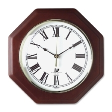 Chicago Lighthouse Octagon Mahogany Frame Clock 1 x aa, hardwood, chicago lighthouse, analog, round, abs plastic, white, analog white, brass, octagon mahogany frame clock, wall clock, 3 year limited, chicago lighthouse industries, roman  for hour on main dial, quartz, battery, octagon, octagon, 240 lb, cli67207010, 830951000978, 54111601