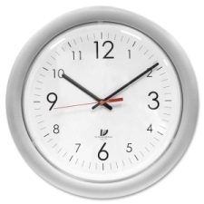 Chicago Lighthouse Designer Wall Clock 1 x aa, chicago lighthouse, silver frame, digital, round, white, digital white, shatter resistant, uv protection, designer wall clock, wall clock, chicago lighthouse industries, quartz, battery, 20, cli67846004, 830951004136, 54111601