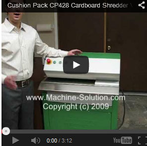 Cushion Pack CP428 S2+ cardboard shredder video