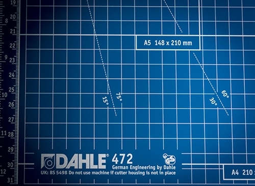 Dahle 472 S Premium 72'' Large Format Rolling Trimmer with Stand - DAH 472 S