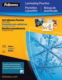 Fellowes Self-Adhesive Letter Laminating Sheets 3 MIL