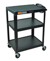H Wilson W34E Black Metal 3 Shelf Presentation Cart H Wilson W34E Black Metal 3 Shelf Presentation Cart