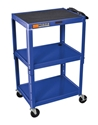 H Wilson W42ABUE Blue Metal 3 Shelf Presentation Cart H Wilson W42ABUE Blue Metal 3 Shelf Presentation Cart