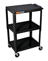 H Wilson W42AE Black Metal 3 Shelf Presentation Cart H Wilson W42AE Black Metal 3 Shelf Presentation Cart