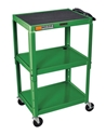 H Wilson W42AGE Green Metal 3 Shelf Presentation Cart H Wilson W42AGE Green Metal 3 Shelf Presentation Cart
