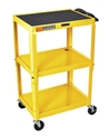 H Wilson W42AYE Yellow Metal 3 Shelf Presentation Cart H Wilson W42AYE Yellow Metal 3 Shelf Presentation Cart