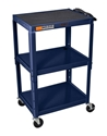H Wilson W42AZE Navy Metal 3 Shelf Presentation Cart H Wilson W42AZE Navy Metal 3 Shelf Presentation Cart