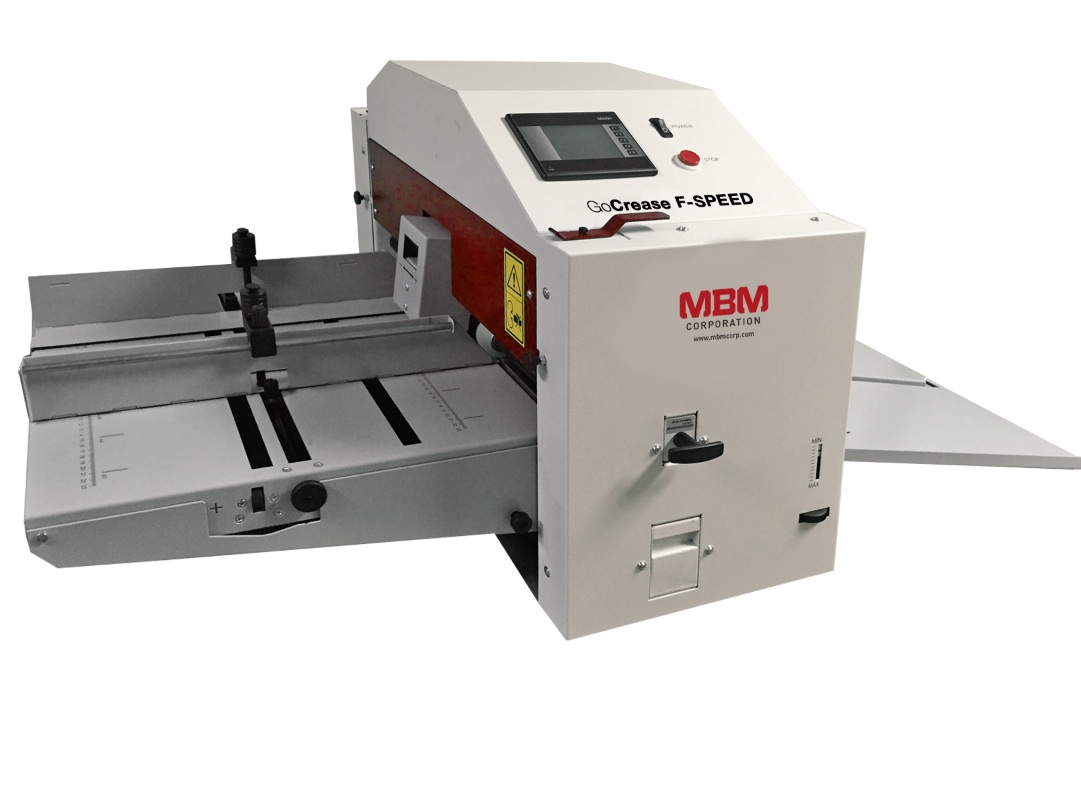 MBM GoCrease F-Speed Automatic Friction Paper Creaser,Perforating,Punching Machine with Mobile Stand MBM GoCrease F-Speed Automatic Friction Paper Creaser,Perforating,Punching Machine