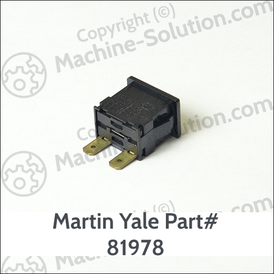 Martin Yale 81978 Power Switch for Old Style 302/402/502/602/702 Machines Martin Yale 81978 Power Switch for Old Style 302/402/502/602/702 Machines