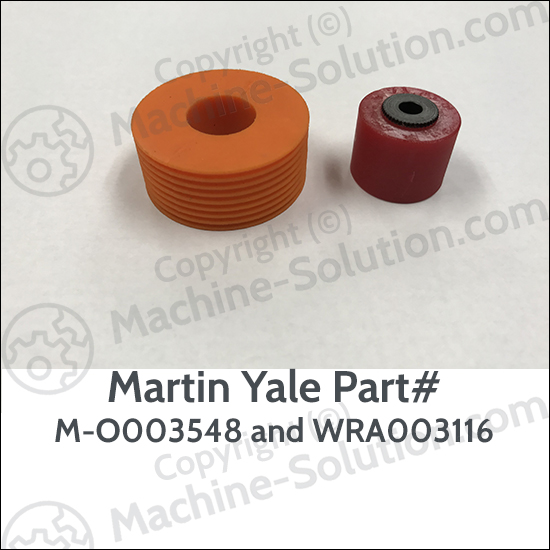 Martin Yale In Feed Roller Rubber and Retarder with Arbor Kit, M-O003548 and WRA003116