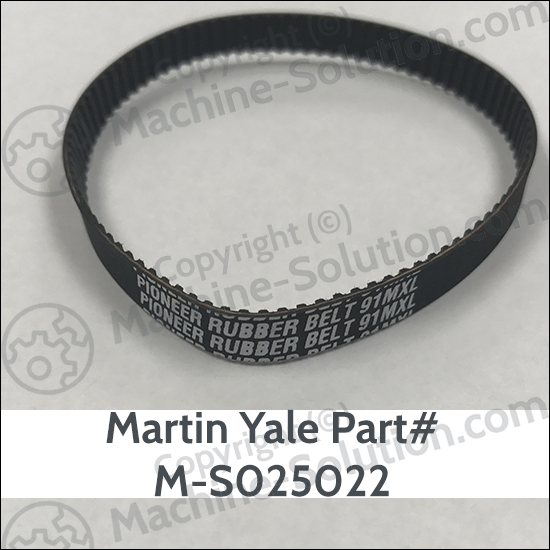 Martin Yale 8.48 Timing Belt Replacement M-S025022