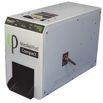 Phiston Technologies MediaVise MV02C Compact with Chute Digital Media Sanitizer