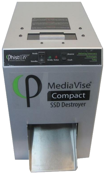 Phiston Technologies MediaVise MV02CS1 Compact with Chute SSD Destroyer