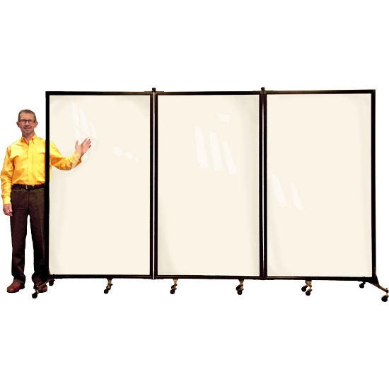 Screenflex CRD3 Clear Room Divider 3 Panel (10 Long) Screenflex CRD3 Clear Room Divider 3 Panel (10 Long), screenflex 3 panel clear divider