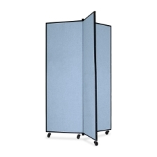 Screenflex Panel Mobile Display Tower 69, 69 x 36, blue polyester fabric, polyester fabric, screenflex, scratch resistant, steel, panel mobile display tower, bulletin board, screenflex, cds603cb, 1 each, floor standing, rectangle, blue, art, lobby display, presentation, scrflxcds603cb, 44111907