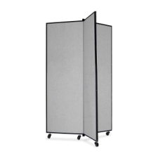 Screenflex Panel Mobile Display Tower 69, 69 x 36, gray polyester fabric, polyester fabric, screenflex, scratch resistant, steel, panel mobile display tower, bulletin board, screenflex, cds603cg, 1 each, floor standing, rectangle, gray, art, lobby display, presentation, scrflxcds603cg, 44111907