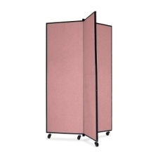 Screenflex Panel Mobile Display Tower 69, 69 x 36, mauve polyester fabric, polyester fabric, screenflex, scratch resistant, steel, panel mobile display tower, bulletin board, screenflex, cds603cm, 1 each, floor standing, rectangle, mauve, art, lobby display, presentation, scrflxcds603cm, 44111907