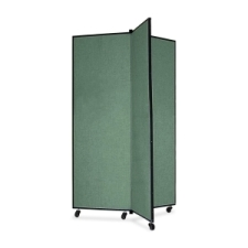 Screenflex Panel Mobile Display Tower 69, 69 x 36, green polyester fabric, polyester fabric, screenflex, scratch resistant, steel, panel mobile display tower, bulletin board, screenflex, cds603cn, 1 each, floor standing, rectangle, green, art, lobby display, presentation, scrflxcds603cn, 44111907