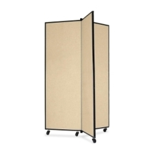 Screenflex Panel Mobile Display Tower 69, 69 x 36, polyester fabric, wheat polyester fabric, screenflex, scratch resistant, steel, panel mobile display tower, bulletin board, screenflex, cds603cw, 1 each, floor standing, rectangle, wheat, art, lobby display, presentation, scrflxcds603cw, 44111907