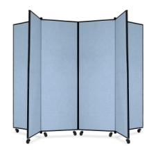 Screenflex Panel Mobile Display Tower 69, 69 x 84, blue polyester fabric, polyester fabric, screenflex, scratch resistant, steel, panel mobile display tower, bulletin board, screenflex, cds606cb, 1 each, floor standing, blue, art, lobby display, presentation, scrflxcds606cb, 44111907