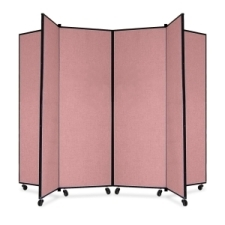 Screenflex Panel Mobile Display Tower 69, 69 x 84, mauve polyester fabric, polyester fabric, screenflex, scratch resistant, steel, panel mobile display tower, bulletin board, screenflex, cds606cm, 1 each, floor standing, mauve, art, lobby display, presentation, scrflxcds606cm, 44111907