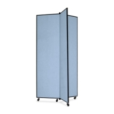 Screenflex Panel Mobile Display Tower 77, 77 x 36, blue polyester fabric, polyester fabric, screenflex, scratch resistant, steel, panel mobile display tower, bulletin board, screenflex, cds683cb, 1 each, floor standing, blue, art, lobby display, presentation, scrflxcds683cb, 44111907