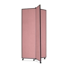 Screenflex Panel Mobile Display Tower 77, 77 x 36, mauve polyester fabric, polyester fabric, screenflex, scratch resistant, steel, panel mobile display tower, bulletin board, screenflex, cds683cm, 1 each, floor standing, mauve, art, lobby display, presentation, scrflxcds683cm, 44111907