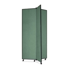 Screenflex Panel Mobile Display Tower 77, 77 x 36, green polyester fabric, polyester fabric, screenflex, scratch resistant, steel, panel mobile display tower, bulletin board, screenflex, cds683cn, 1 each, floor standing, green, art, lobby display, presentation, scrflxcds683cn, 44111907