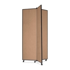 Screenflex Panel Mobile Display Tower 77, 77 x 36, oatmeal polyester fabric, polyester fabric, screenflex, scratch resistant, steel, panel mobile display tower, bulletin board, screenflex, cds683co, 1 each, floor standing, oatmeal, art, lobby display, presentation, scrflxcds683co, 44111907