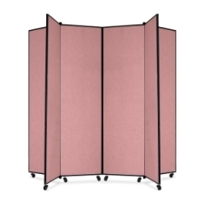 Screenflex Panel Mobile Display Tower 77, 77 x 84, mauve polyester fabric, polyester fabric, screenflex, scratch resistant, steel, panel mobile display tower, bulletin board, screenflex, cds686cm, 1 each, floor standing, mauve, art, lobby display, project, scrflxcds686cm, 44111907