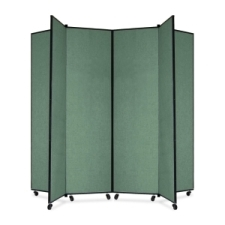 Screenflex Panel Mobile Display Tower 77, 77 x 84, green polyester fabric, polyester fabric, screenflex, scratch resistant, steel, panel mobile display tower, bulletin board, screenflex, cds686cn, 1 each, floor standing, green, art, lobby display, project, scrflxcds686cn, 44111907